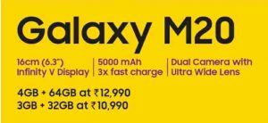 galaxy-m20-specifications