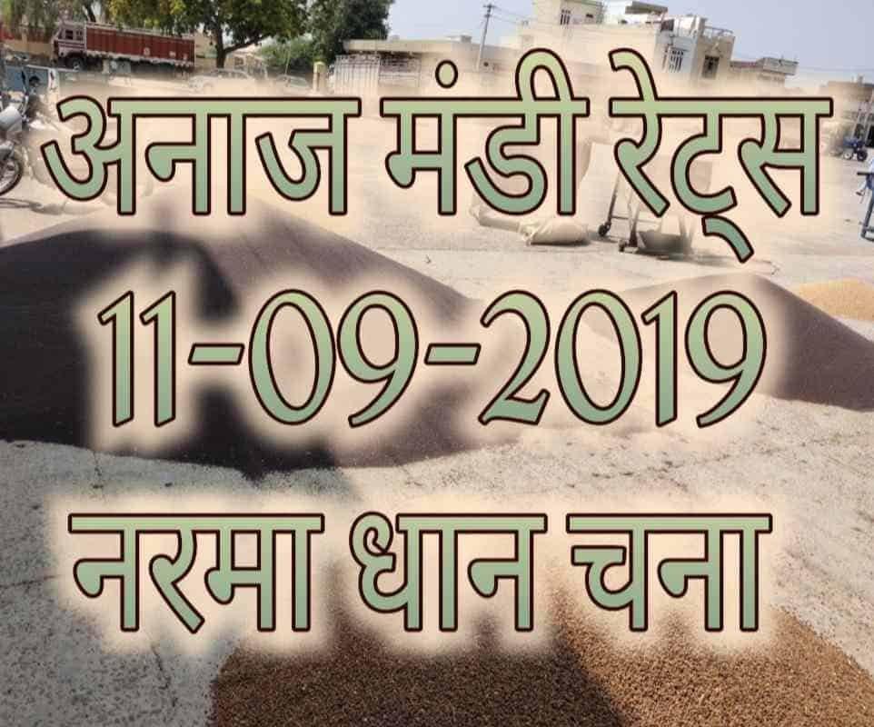 Mandi Bhav 11-09-2019 Mandi Rates, Paddy Prices